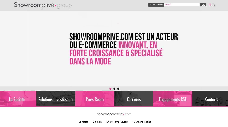 parrainage sur le site de e-commerce showroomprivé