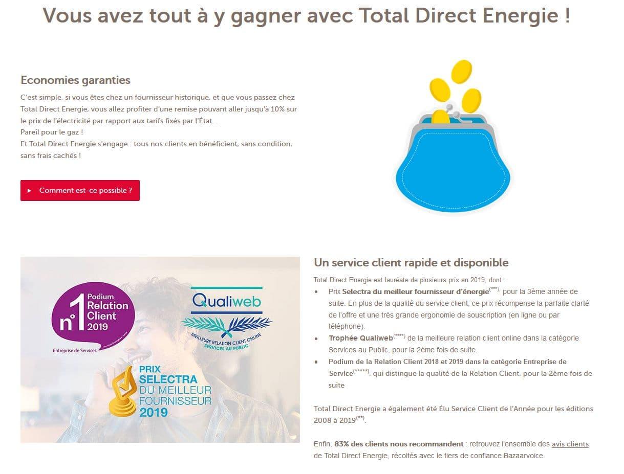 économiser sur votre énergie avec total direct énergie