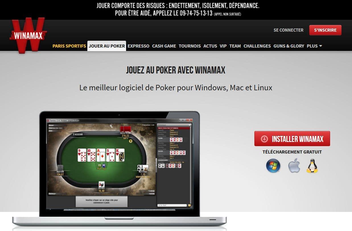 inscription sur le site winamax.fr