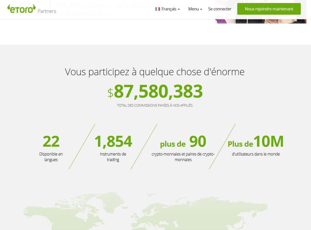 les chiffres du site etoro