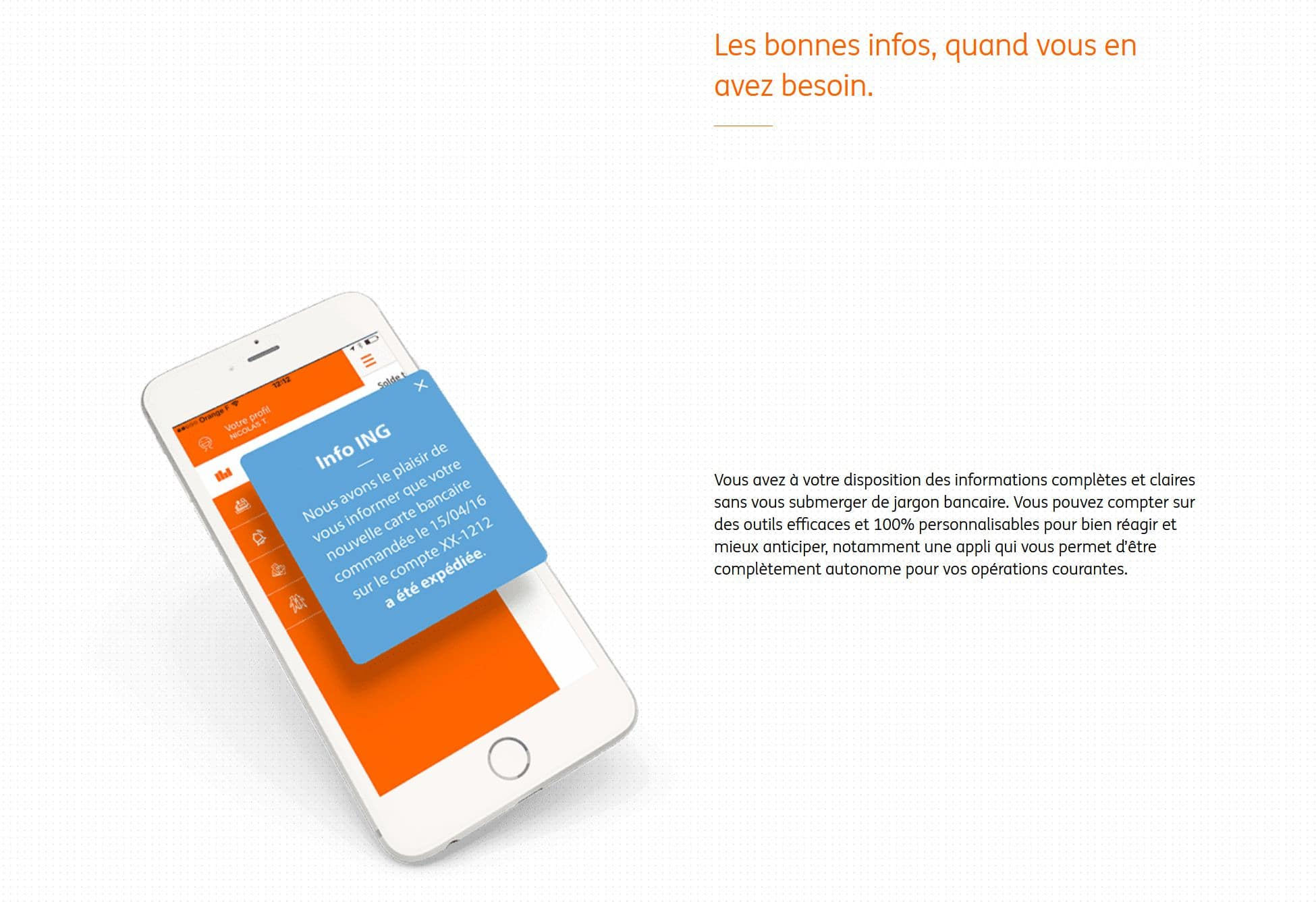 application de la banque ing