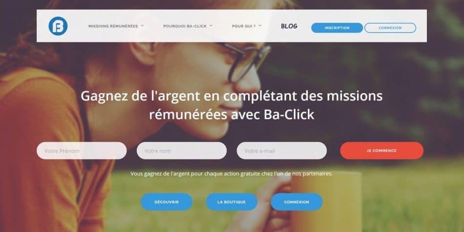 code parrainage ba click